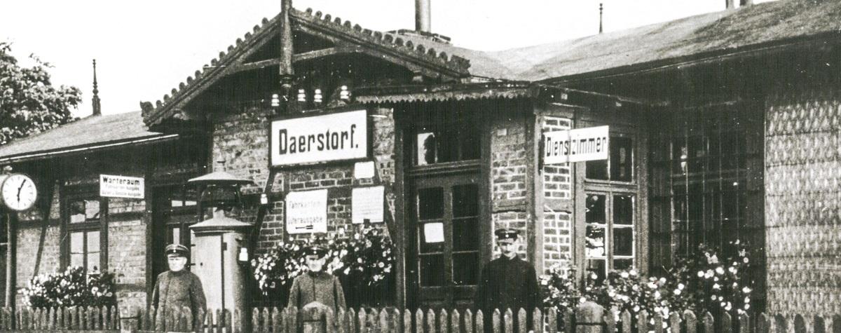 Historisch 2021 Bahnhof Daerstorf 1950