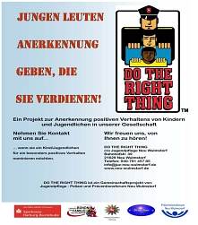 Poster der Aktion Do The Right Thing